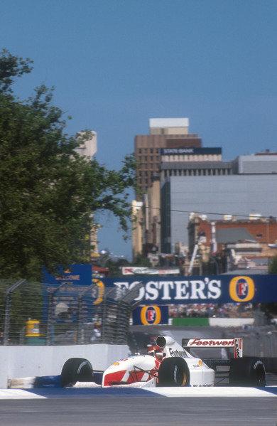 1991 Australian Grand Prix.Adelaide, Australia.1-3 November 1991.Alex Caffi (Footwork FA12 Ford) 15th position. This was his last Grand Prix.Ref-91 AUS 30.World Copyright - LAT Photographic