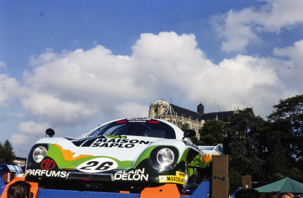 Jacky Haran / Vivian Candy / Hervé Poulain, Jacky Haran, Rondeau M379 C, at scrutineering in Le Mans town centre.
