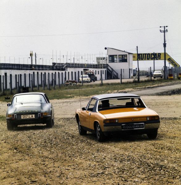 Porsche 911E (left) and Porsche 914 (right)