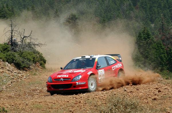 World Rally Championship, Acropolis Rally, June 13-16, 2002.Thomas Radstrom on stage 3.Photo: Ralph Hardwick/LAT