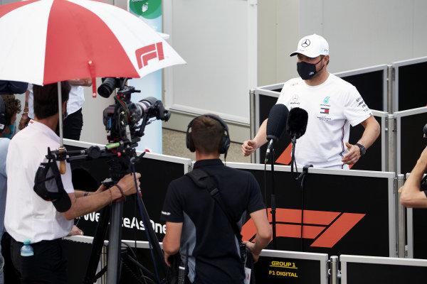 Valtteri Bottas, Mercedes-AMG Petronas F1, is interviewed after practice