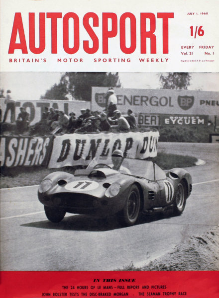Cover of Autosport magazine, 1st July 1960