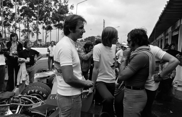 Wilson Fittipaldi with brother Emerson in the pits.