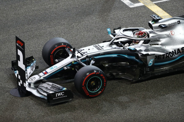 Lewis Hamilton, Mercedes AMG F1, celebrates taking pole position