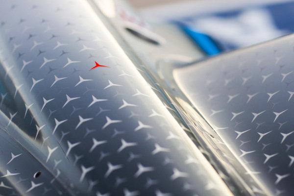 Red star on the Mercedes Benz EQ, EQ Silver Arrow 01, for Niki Lauda