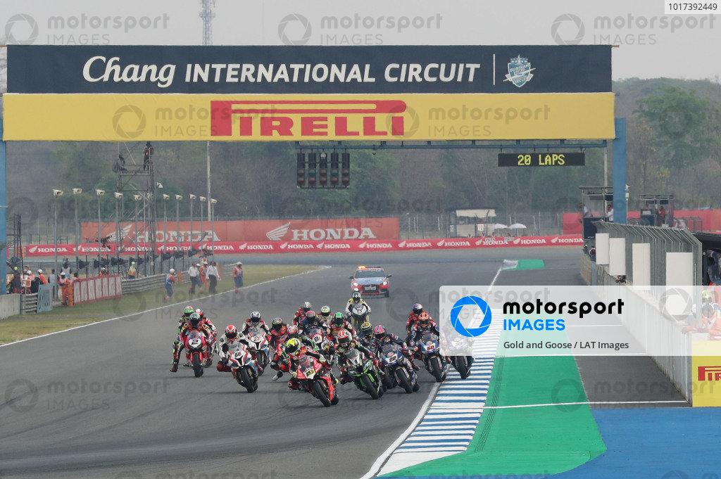 Alvaro Bautista, Aruba.it Racing-Ducati Team leads start