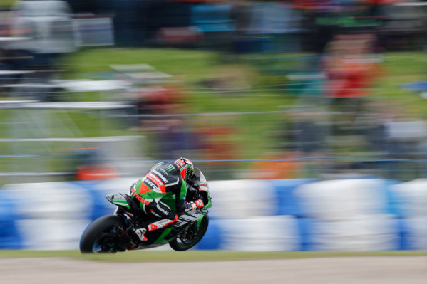 2015 World Superbike Championship.  Donington Park, UK.  23rd - 24th May 2015.  Tom Sykes, Kawasaki.  Ref: KW7_6074a. World copyright: Kevin Wood/LAT Photographic
