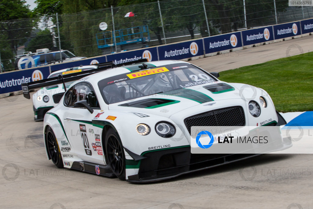 29-31 May 2015, Detroit, Michigan USA Butch Leitzinger, #20 Bentley Continental GT3 ?2015, Brian Cleary/LAT Photo USA