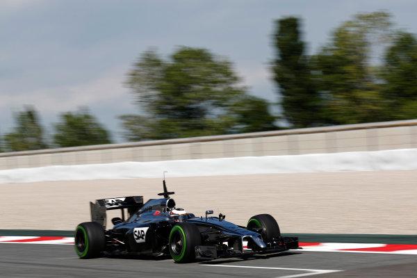 Circuit de Catalunya, Barcelona, Spain. Wednesday 14 May 2014. Stoffel Vandoorne, McLaren MP4-29 Mercedes. World Copyright: Sam Bloxham/LAT Photographic. ref: Digital Image _SBL0551