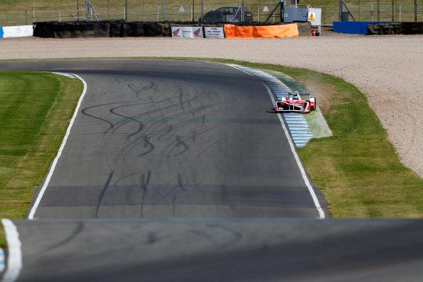 FIA Formula E Season 3 Testing - Day Two. Donington Park Racecourse, Derby, United Kingdom. Nick Heidfeld, Mahindra Racing, Spark-Mahindra, runs wide. Wednesday 24 August 2016. Photo: Adam Warner / LAT / FE. ref: Digital Image _L5R0329