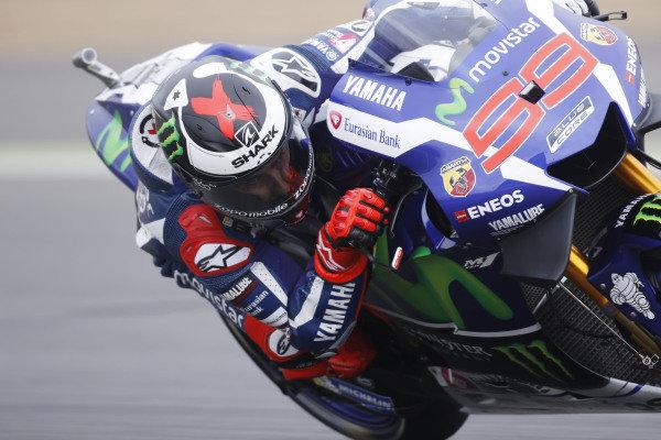 2016 MotoGP Championship.  British Grand Prix.  Silverstone, England. 2nd - 4th September 2016.  Jorge Lorenzo, Yamaha.  Ref: _W7_6149a. World copyright: Kevin Wood/LAT Photographic