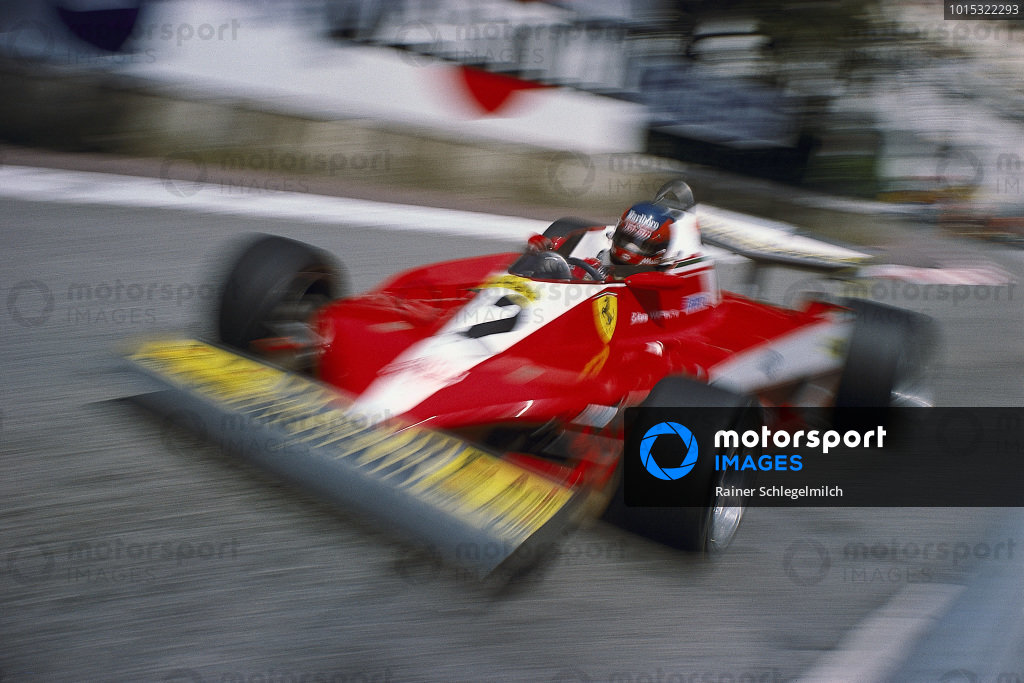 Gilles Villeneuve, Ferrari 312T3.