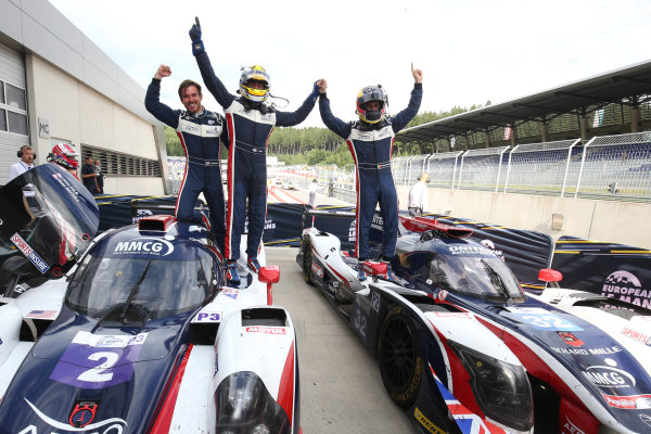 2017  European Le Mans Series, Red Bull Ring, 21st-23rd July 2017, #2 John Falb (USA) / Sean Rayhall (USA) - UNITED AUTOSPORTS - Ligier JS P3 ? Nissan and #32  William Owen (USA) / Hugo de Sadeleer (CHE) / Filipe Albuquerque (PRT) - UNITED AUTOSPORTS - Ligier JSP217 - Gibson World Copyright. JEP/LAT Images