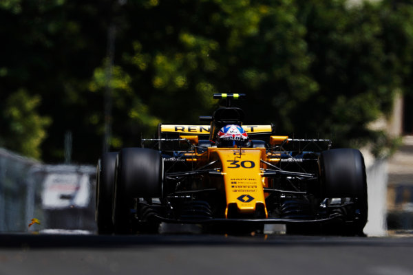 Baku City Circuit, Baku, Azerbaijan. Friday 23 June 2017. Jolyon Palmer, Renault R.S.17.  World Copyright: Glenn Dunbar/LAT Images ref: Digital Image _X4I9303