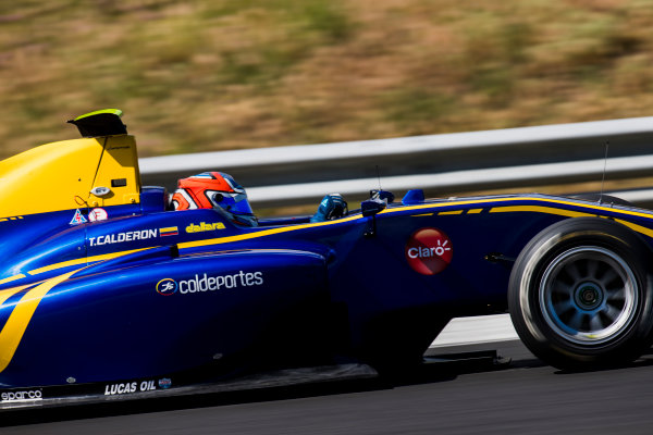 2017 GP3 Series Test 4.  Hungaroring, Budapest, Hungary. Wednesday 7 June 2017. Tatiana Calderon (COL, DAMS)  Photo: Zak Mauger/GP3 Series Media Service. ref: Digital Image _56I2362