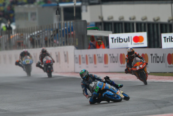 2017 Moto3 Championship - Round 13 Misano, Italy. Sunday 10 September 2017 Bastianini crash World Copyright: Gold and Goose / LAT Images ref: Digital Image 7858