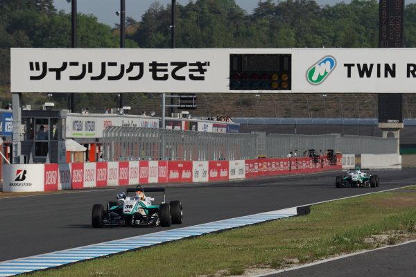 Motegi, Japan. 11th - 12th 2013. Rd 2. Race 3 - Winner  Yuichi Nakayama ( #36 PETRONAS TEAM TOM'S ) action World Copyright: Yasushi Ishihara/LAT Photographic Ref: 2013JF3_Rd5_04
