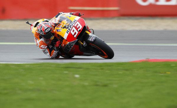 2014 MotoGP Championship  British Grand Prix.  Silverstone, England. 29th - 30st August 2014.  Marc Marquez, Honda.  Ref: _W1_5412. World copyright: Kevin Wood/LAT Photographic