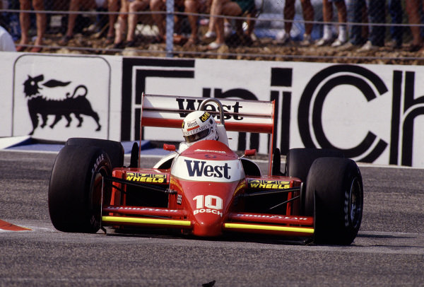 1987 French Grand Prix.Paul Ricard, Le Castellet, France.3-5 July 1987.Christian Danner (Zakspeed 871).Ref-87 FRA 26.World Copyright - LAT Photographic
