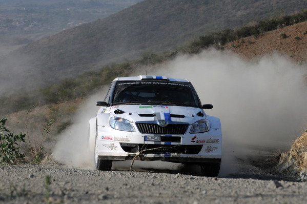 Sebastien Ogier (FRA) and Julien Ingrassia (FRA), Skoda S2000, on stage 14.FIA World Rally Championship, Rd3, Rally Guanajuato Mexico, Leon, Mexico, Day Two, Saturday 10 March 2012.