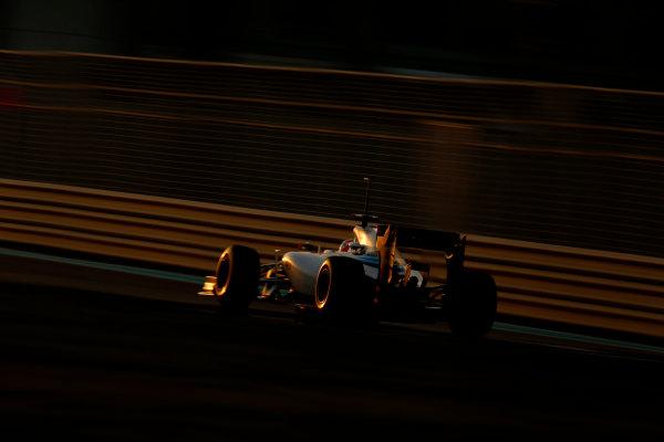 Yas Marina Circuit, Abu Dhabi, United Arab Emirates. Wednesday 26 November 2014. Felipe Nasr, Williams FW36 Mercedes. World Copyright: Glenn Dunbar/LAT Photographic. ref: Digital Image _89P9032