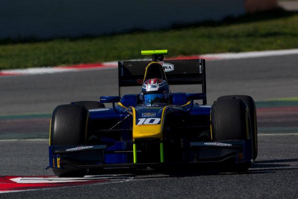 Circuit de Barcelona Catalunya, Barcelona, Spain. Tuesday 14 March 2017. Nicholas Latifi (CAN, DAMS). Action.  Photo: Alastair Staley/FIA Formula 2 ref: Digital Image 585A8424