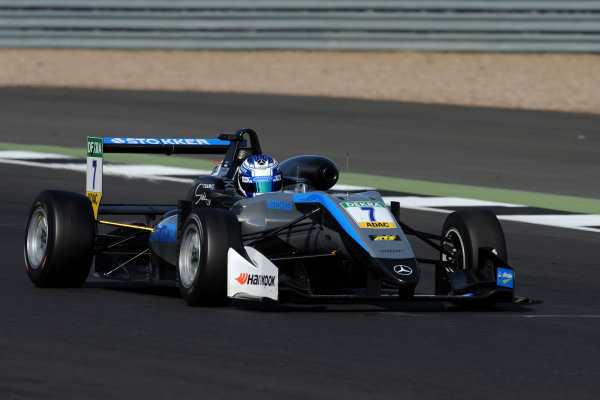2017 FIA Formula 3 European Championship. Round 1 - Silverstone, UK. Sunday 16 April 2017. Ralf Aron, Hitech Grand Prix, Dallara F317 - Mercedes-Benz World Copyright: Ebrey/LAT Images ref: Digital Image PM3_5703