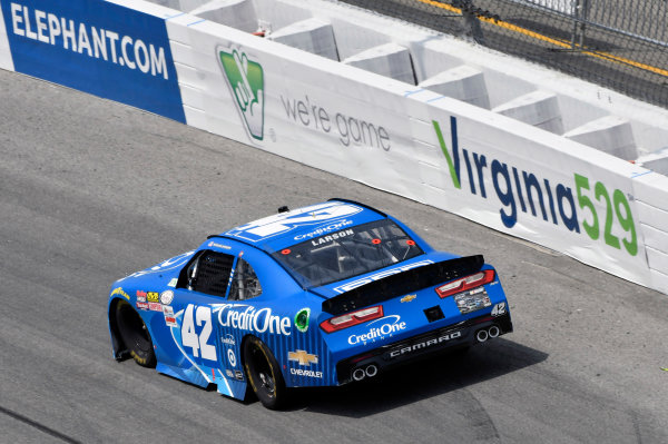 NASCAR Xfinity Series ToyotaCare 250 Richmond International Raceway, Richmond, VA USA Saturday 29 April 2017 Kyle Larson, Credit One Bank Chevrolet Camaro World Copyright: Nigel Kinrade LAT Images ref: Digital Image 17RIC1nk08753