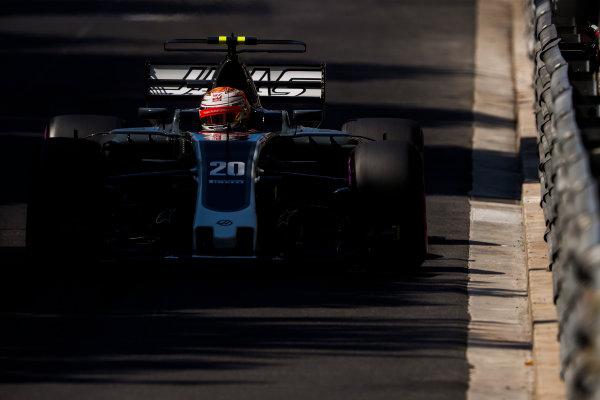 Monte Carlo, Monaco. Saturday 27 May 2017. Kevin Magnussen, Haas VF-17 Ferrari. World Copyright: Glenn Dunbar/LAT Images ref: Digital Image _X4I8619
