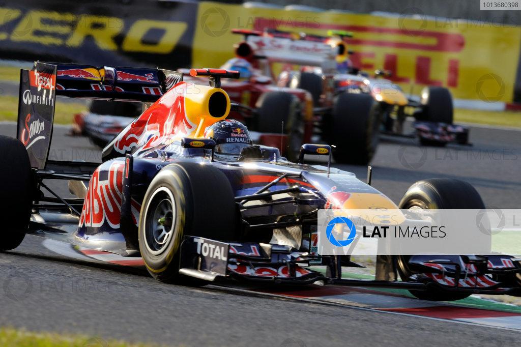 Suzuka Circuit, Suzuka, Japan. 9th October 2011. Sebastian Vettel, Red Bull Racing RB7 Renault, 3rd position. Action.  World Copyright: Steve Etherington/LAT Photographic ref: Digital Image JAP-RACE-3146