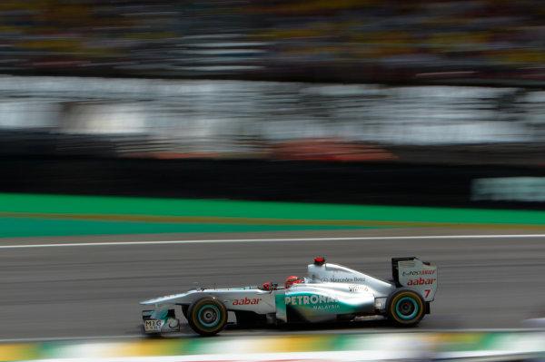 Interlagos, Sao Paulo, Brazil. 26th November 2011. Michael Schumacher, Mercedes GP W02. Action.  World Copyright: Steve Etherington/LAT Photographic ref: Digital Image SNE27342