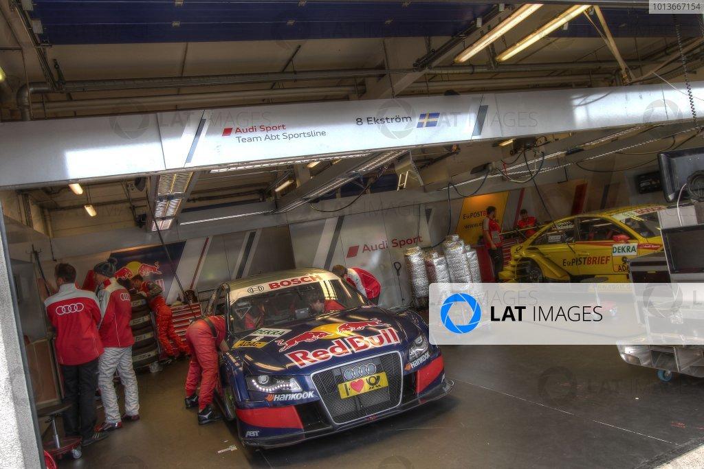 Mattias Ekstrom (SWE), Audi Sport Team Abt Sportsline, Red Bull Audi A4 DTM (2009).DTM, Rd8, Oschersleben, Germany, 16-18 September 2011 Ref: Digital Image dne1117se616