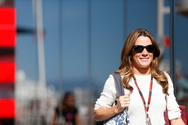Monte Carlo, Monaco. Wednesday 20 May 2015. Natalie Pinkham, Sky Sports F1. World Copyright: Alastair Staley/LAT Photographic. ref: Digital Image _79P6845