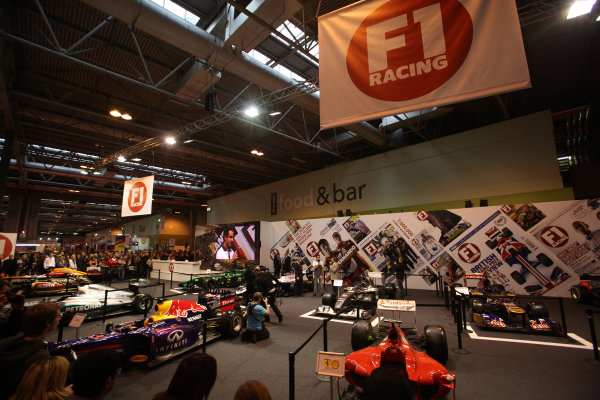 Autosport International Show NEC, Birmingham.  Sunday 12 January 2014. Adrian Sutil on the F1 Racing stand with Stuart Codling and Martin Brundle. World Copyright:Sam Bloxham/LAT Photographic ref: Digital Image IMG_8279