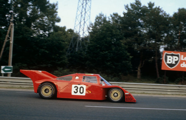 1982 Le Mans 24 hours. Le Mans, France. 19th - 20th June 1982. Hubert Striebig / Michel Lateste / Jacques Heuclin (URD C81 BMW), retired, action.  World Copyright: LAT Photographic. Ref: 82LM40.