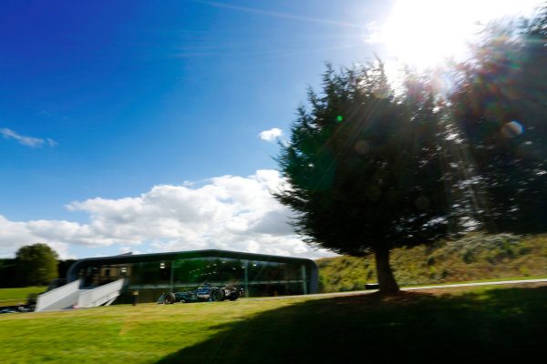 Jaguar Racing Official Formula E Launch Jaguar Heritage Collections Centre, Gaydon, UK Thursday 8 September 2016 Ho-Pin Tung drives the new Jaguar Racing Formula E car. World Copyright: Andrew Ferraro/LAT Photographic ref: Digital Image _14P5039