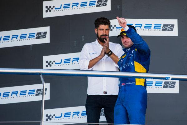 2017 FIA Formula 2 Round 10. Circuito de Jerez, Jerez, Spain. Sunday 8 October 2017. Oliver Rowland (GBR, DAMS).  Photo: Zak Mauger/FIA Formula 2. ref: Digital Image _X0W2873