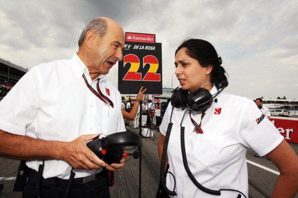 (L to R): Peter Sauber (SUI) BMW Sauber F1 Team Principal with Monisha Kaltenborn (AUT) BMW Sauber Managing Director on the grid. Formula One World Championship, Rd 11, German Grand Prix, Race, Hockenheim, Germany, Sunday 25 July 2010.