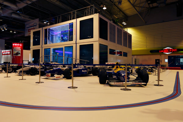 Autosport International Exhibition.  National Exhibition Centre, Birmingham, UK. Thursday 14 January 2016.  The Williams Motorhome in the NEC. World Copyright: Zak Mauger/LAT Photographic. ref: Digital Image _L0U0760