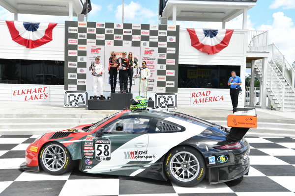 Pirelli World Challenge Grand Prix of Road America Road America, Elkhart Lake, WI USA Sunday 25 June 2017 Johnny O'Connell, Patrick Long, Adderly Fong World Copyright: Richard Dole/LAT Images ref: Digital Image RD_USA_00283