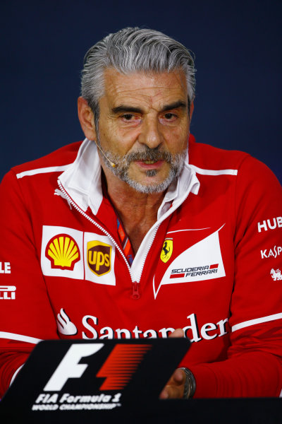 Circuit Gilles Villeneuve, Montreal, Canada. Friday 09 June 2017. Maurizio Arrivabene, Team Principal, Ferrari, in the Friday press conference. World Copyright: Andy Hone/LAT Images ref: Digital Image _ONZ0640