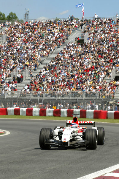 2004 Canadian Grand Prix - Saturday QualifyingMontreal, Canada.12th June 2004.Takuma Sato, BAR Honda 006, action.World copyright LAT Photographic.Digital image only (a high res version is available on request)Can_04_Fri_D06 JPG