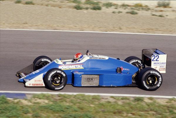 1987 Spanish Grand Prix.Jerez, Spain.25-27 September 1987.Franco Forini (Osella FA1I Alfa Romeo).Ref-87 ESP 33.World Copyright - LAT Photographic