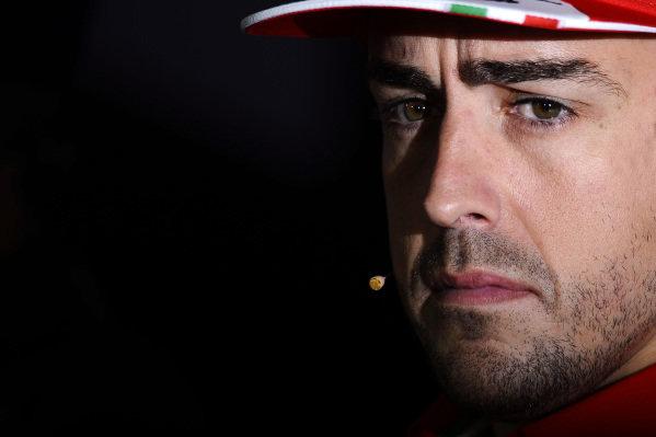 Fernando Alonso (ESP) Ferrari in the press conference. Formula One World Championship, Rd5, Spanish Grand Prix, Preparations, Barcelona, Spain, Thursday 9 May 2013. BEST IMAGE