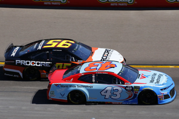 #43: Darrell Wallace Jr., Richard Petty Motorsports, Chevrolet Camaro World Wide Technology and #95: Matt DiBenedetto, Leavine Family Racing, Toyota Camry Procore