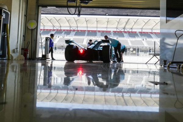 Tom Dillmann (FRA), NIO Formula E Team, NIO Sport 004, rolls back into the garage
