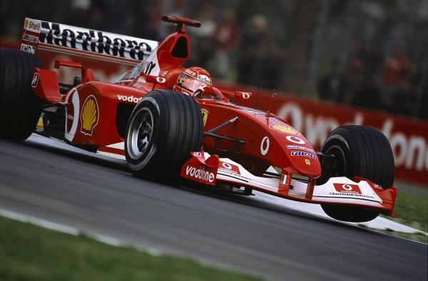 Michael Schumacher, Ferrari F2002.
