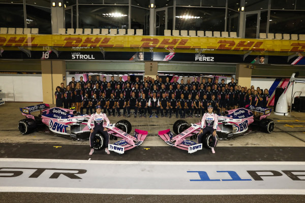 Sergio Perez, Racing Point, Lance Stroll, Racing Point, and the 2019 Racing Point team