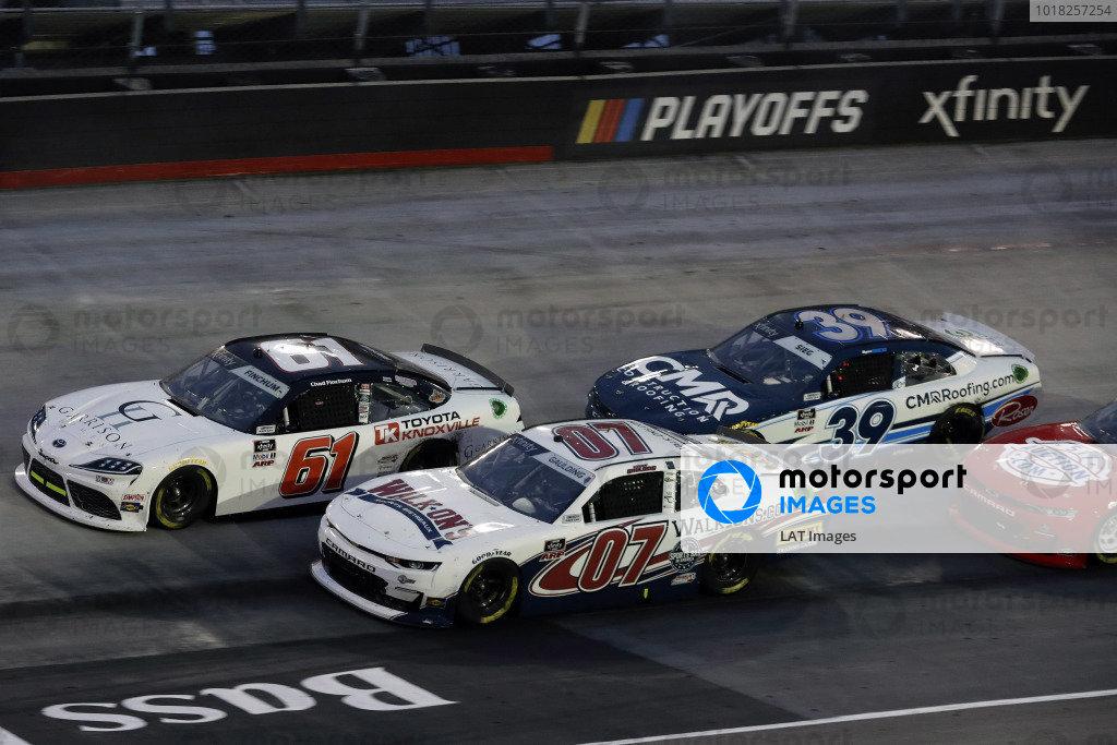 #61: Chad Finchum, Hattori Racing Enterprises, Toyota Supra TOYOTA OF KNOXVILLE and #07: Gray Gaulding, SS Green Light Racing, Chevrolet Camaro Walk-Ons.com