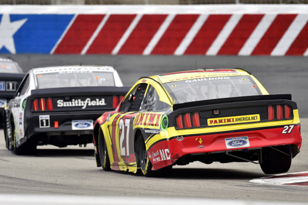 #27: Gray Gaulding, Rick Ware Racing, Ford Mustang, #10: Aric Almirola, Stewart-Haas Racing, Ford Mustang Smithfield